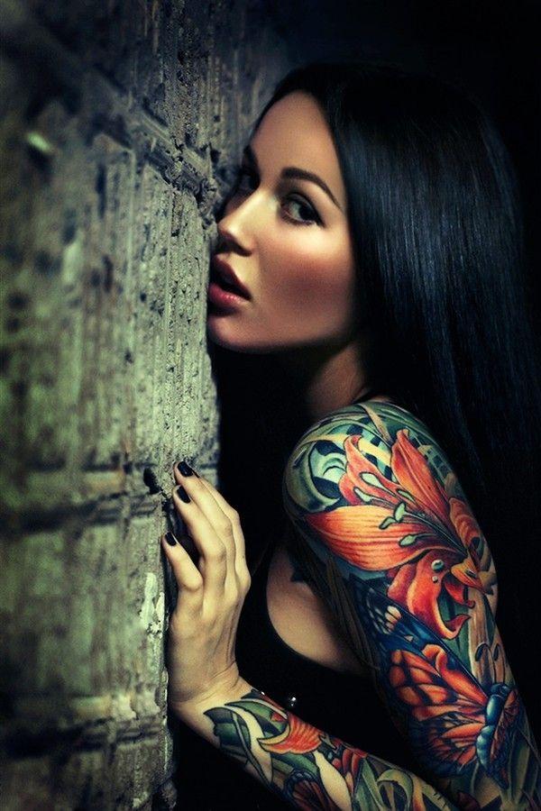 Beautiful Arms Flower Tattoo