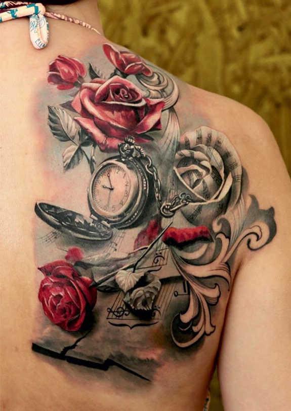 Beautiful Shoulder Tattoos For Women
