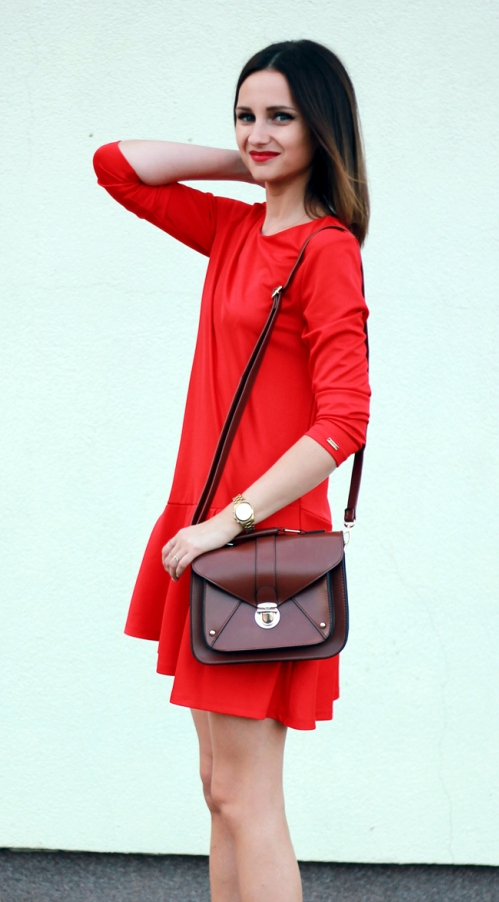 Chic Red Street Style Dress