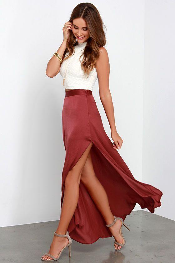 Red Long Skirt For Christmas