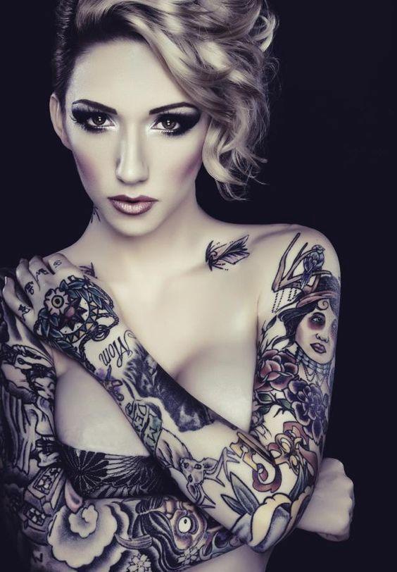 Asymmetrical Sleeve Tattoo