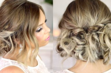 easy formal hair messy up style