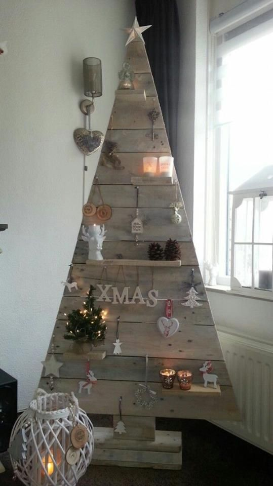 unique pallet christmas tree - Unique Christmas Decorations