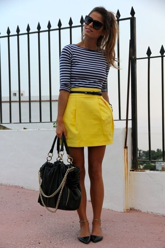 Brightly Colored Skirt Outfit Beautifulfeed