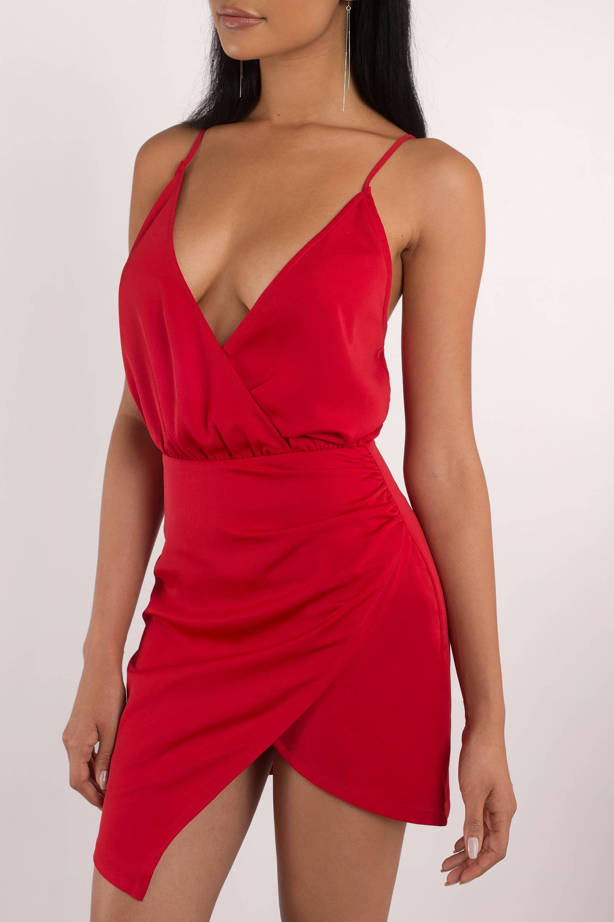 Jamie Red Wrap Dress Beautifulfeed