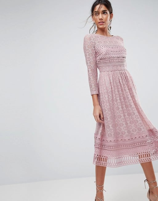 Lace Midi Skater Dress Beautifulfeed