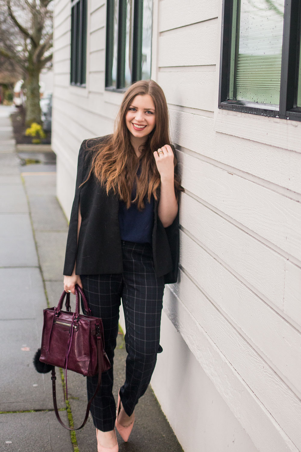 Navy & Black Winter Work Outfit Beautifulfeed