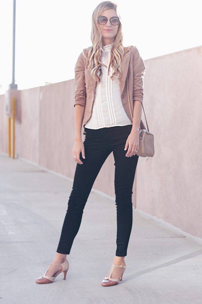 Skinny Black Jeans With Brown Blazer Beautifulfeed