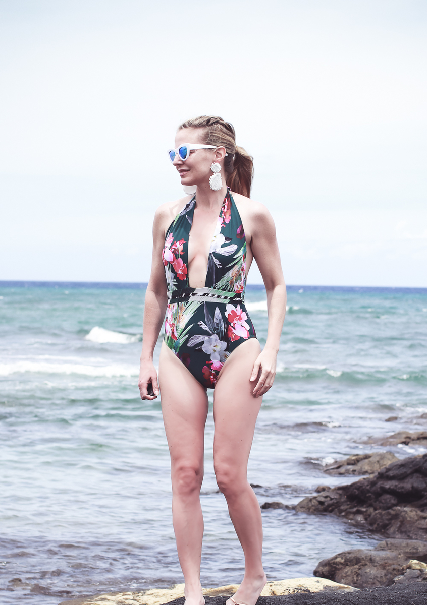 Tropical Print Swimsuit Beautifulfeed