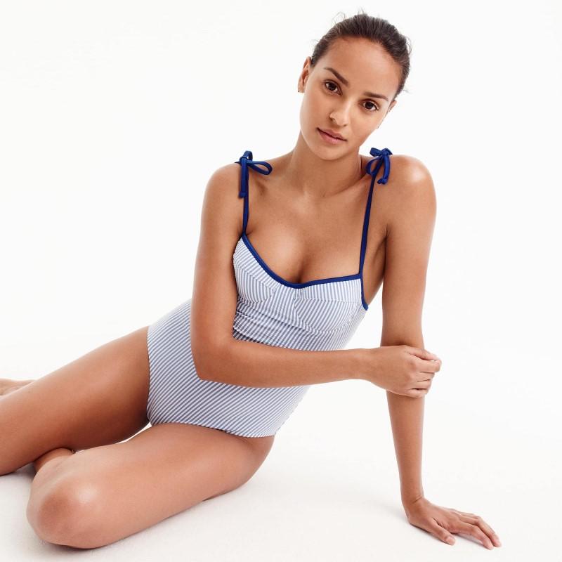 Underwire Shoulder-tie One-piece Swimsuit Beautifulfeed