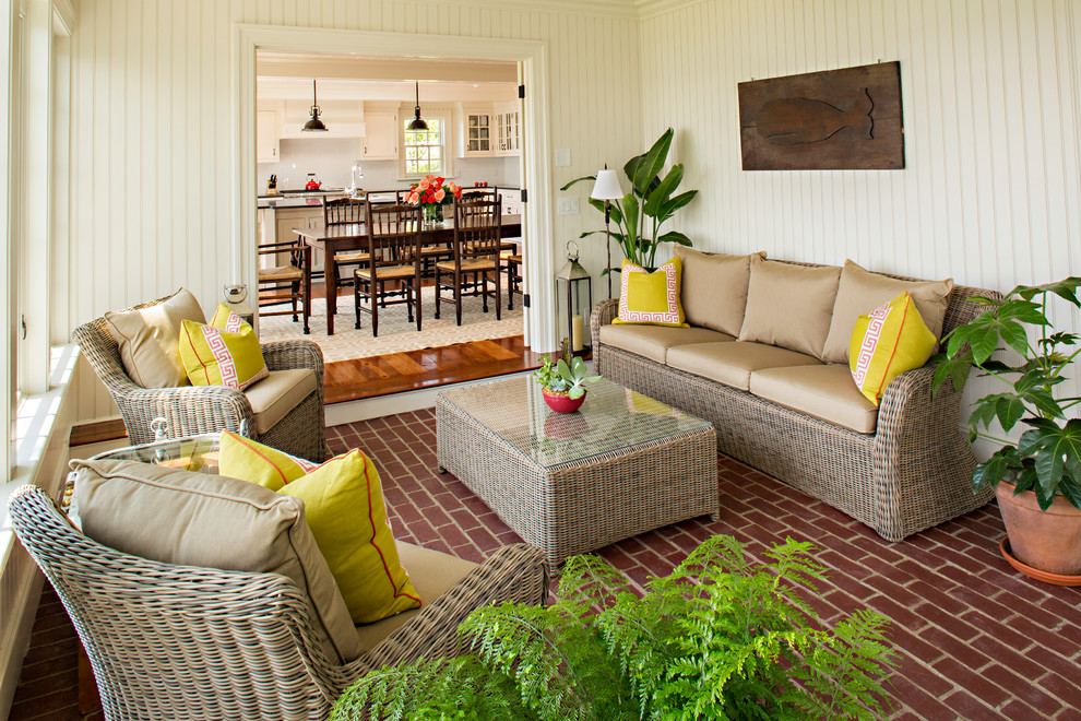 Beach Style Sunroom Rattan Furniture