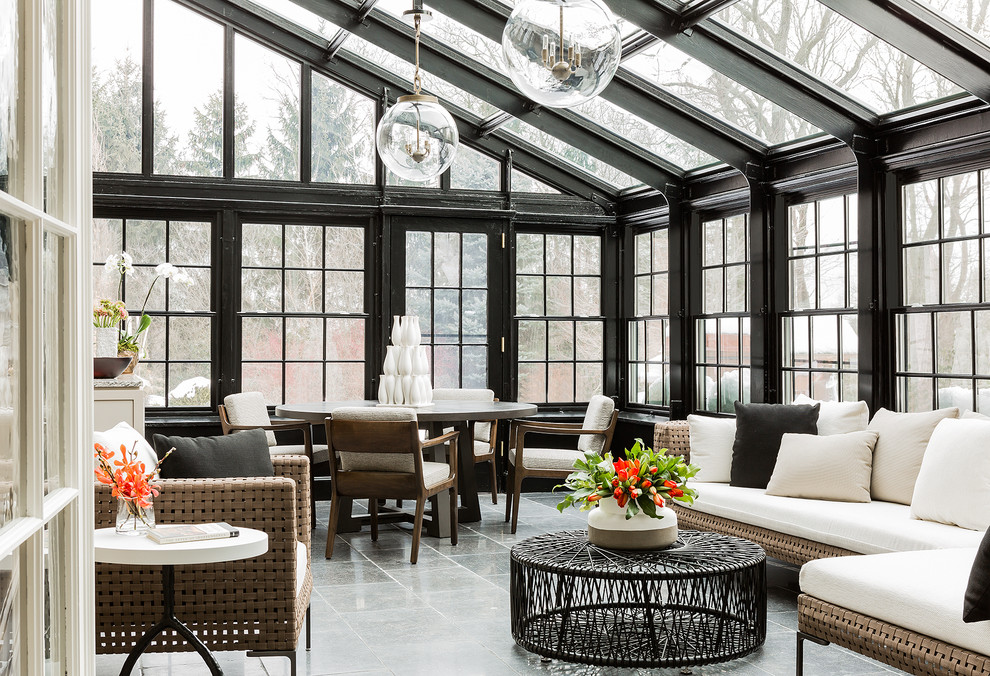 Classic Sunroom Seating Area