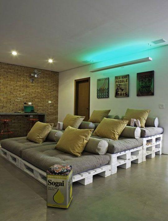 DIY Stadium Style Home Theater