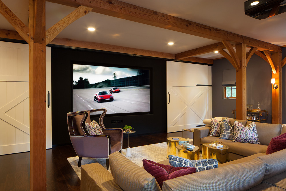 Farmhouse Style Home Theater