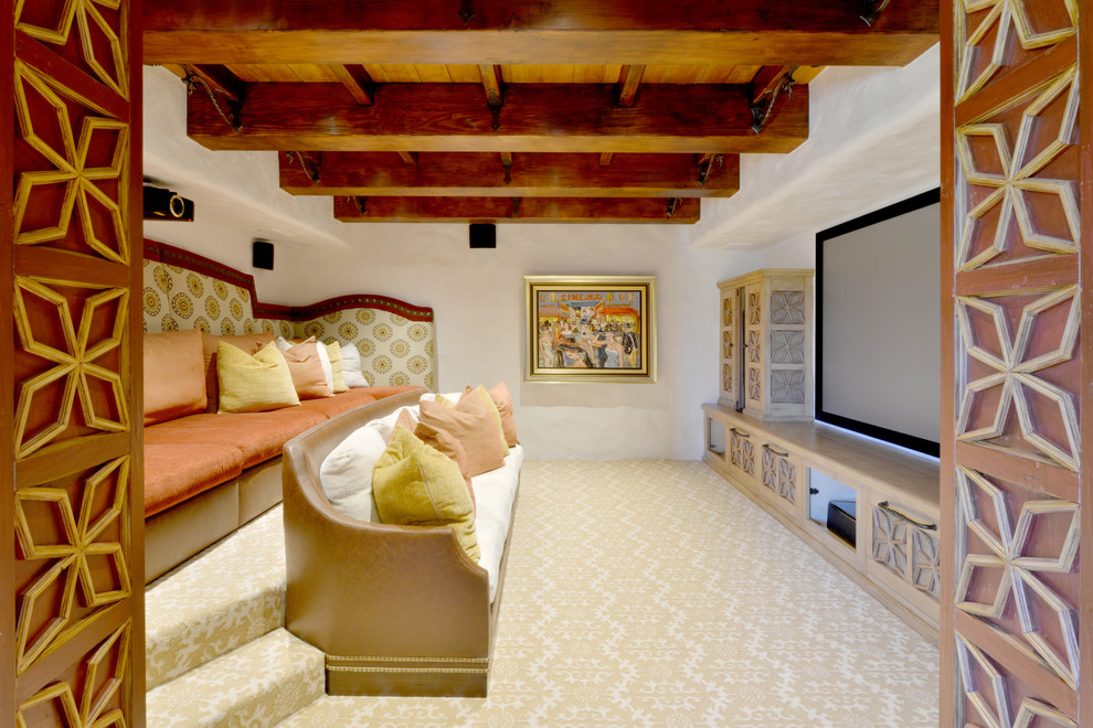 Mediterranean Style Home Theater
