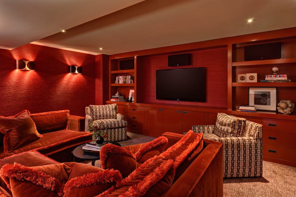 Midcentury Style Home Theater