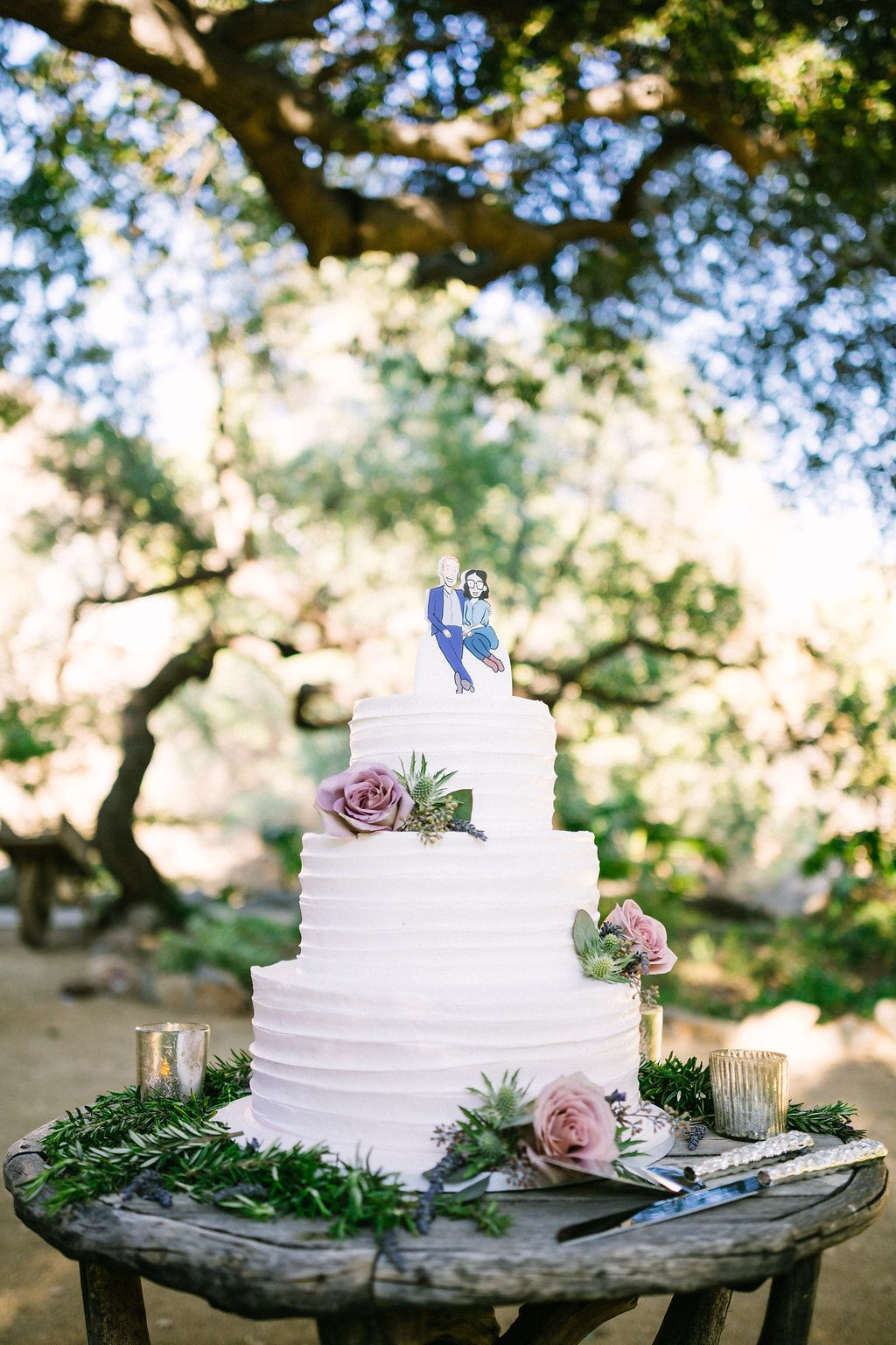 Outdoor Wedding Cake Display