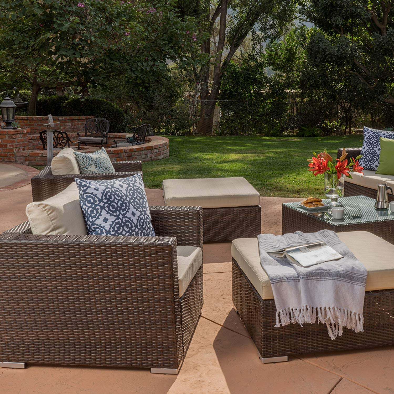 Outdoor Wicker Furniture Sectional Sofa Set