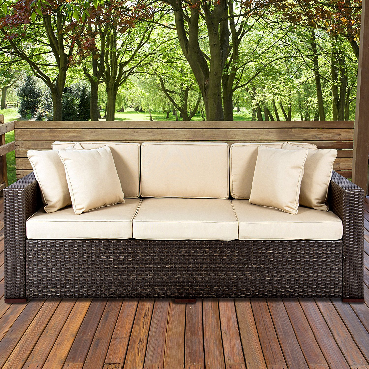 Outdoor Wicker Sofa Couch Patio Furniture