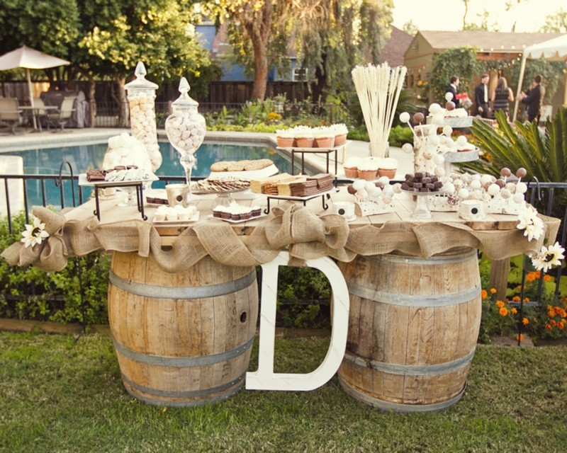 Rustic Outdoor Wedding Decoration