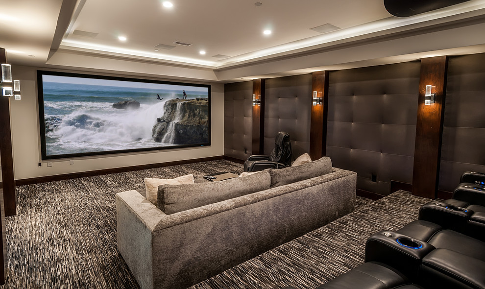 Transitional Style Home Theater