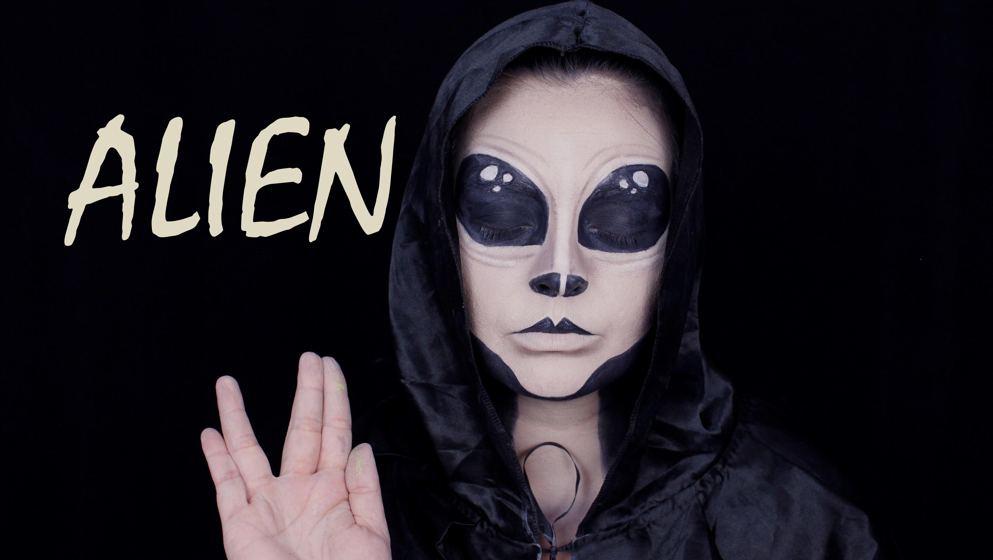 Alien Halloween Makeup Tutorial