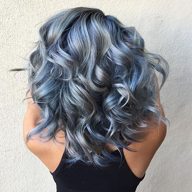 Blue and Grey Metalic Look