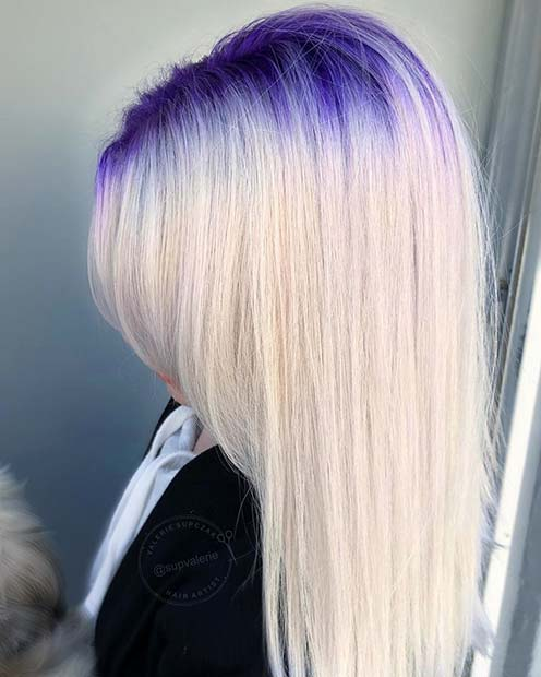 Bold Purple Root Touch