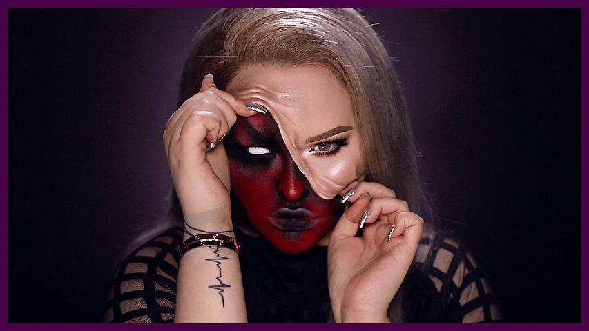 DEMON – Pulled Up Skin Halloween Makeup Tutorial