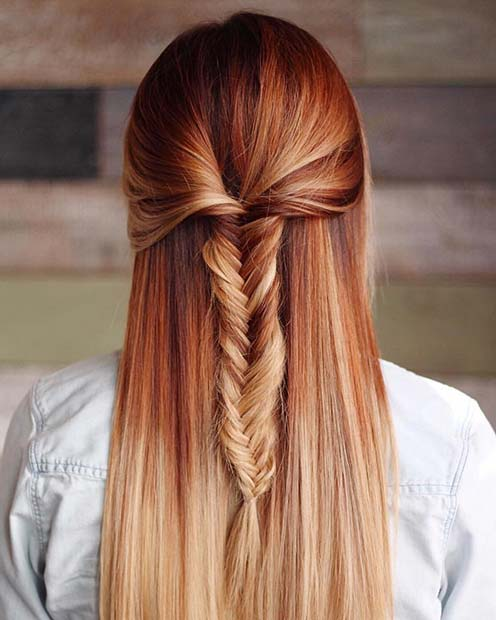 Ombre Warm Coppery Red Tones