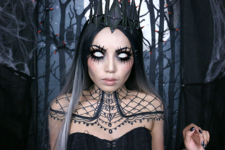 Queen of Darkness Halloween Makeup