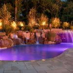 28 Modern Swimming Pool Waterfalls Designs
