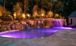 28 Modern Swimming Pool Waterfalls Designs