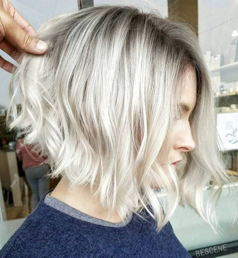 Angled Ash Blond Cut