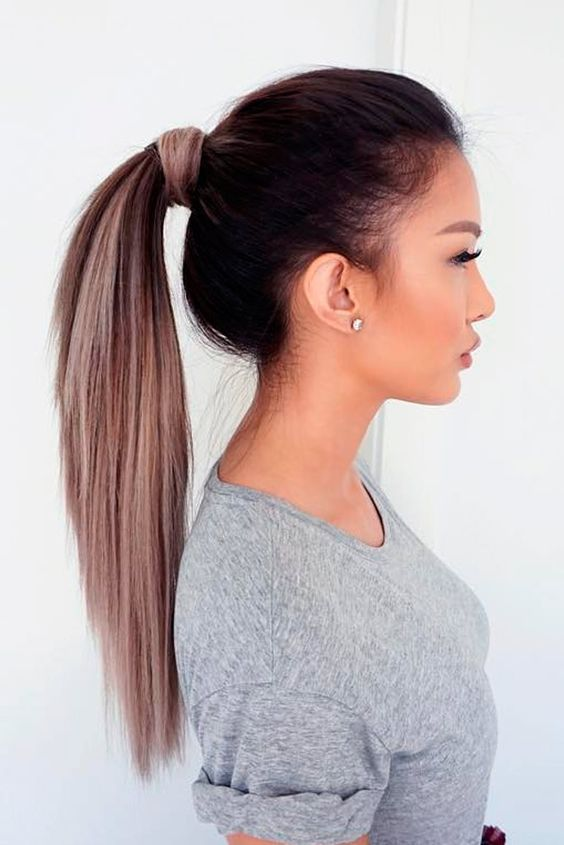 Clean ponytail