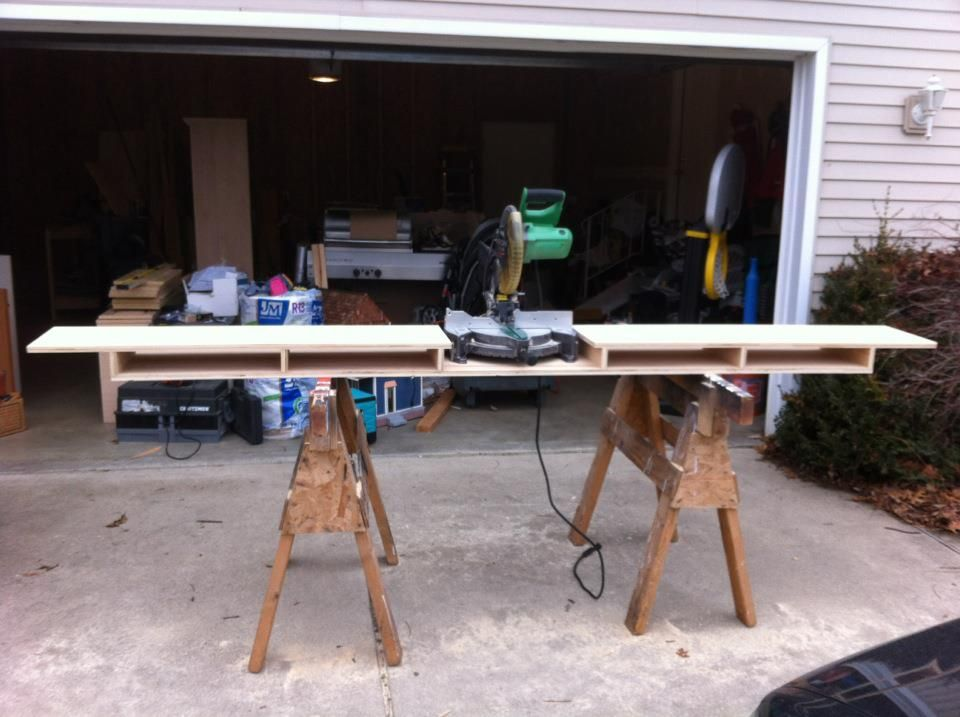 A Miter Saw Stand rebuilt from an old Computer table